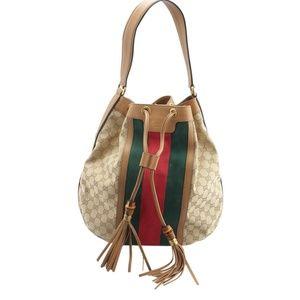 Gucci Rania Web GG Canvas Shoulder Bag (143773)